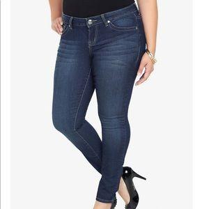 Torrid 12 T Tall Jeans Skinny Medium Wash Plus